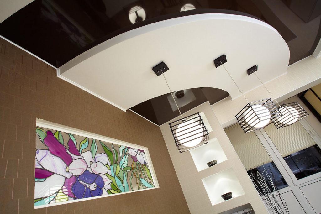 Многоуровныевые натяжные потолки