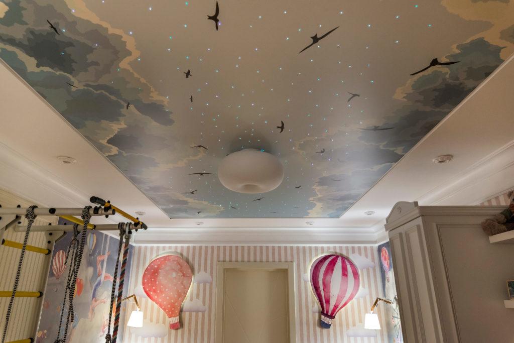 Натяжные потолки со звездным небом